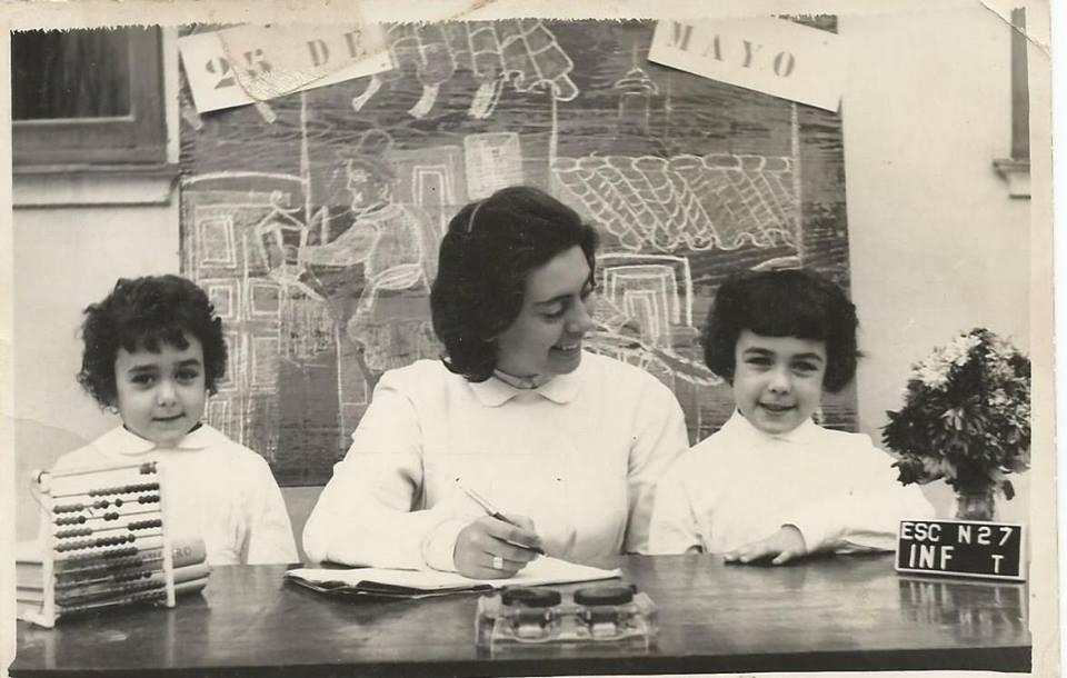 Encarnita Peche con Elena Hulsberg y Norma Sprecher,
