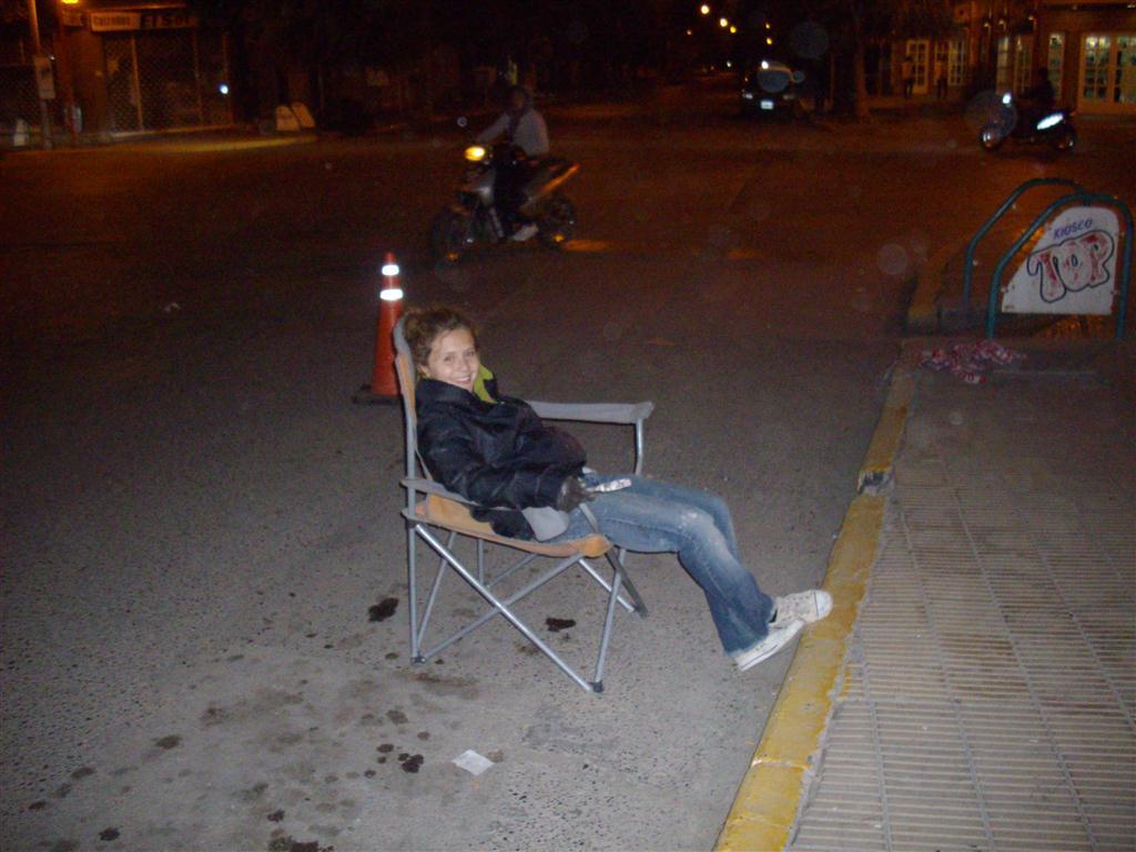 k Noche de la primera jornada Maria descansando
