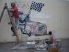 g Chelo y Maria en el mural Automovilismo