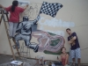 h Con Santi en mural Automovilismo