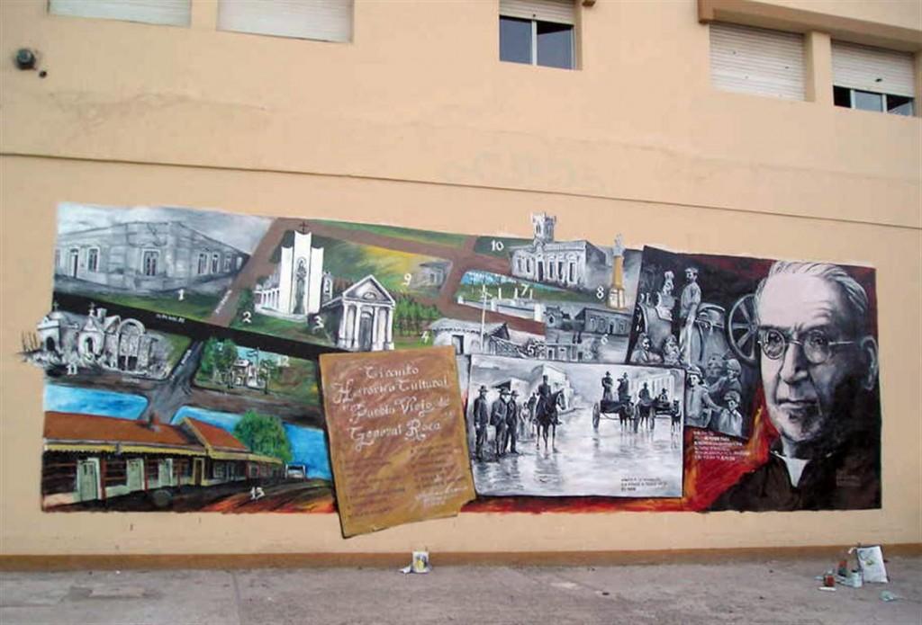 Mural en el Colegio San Miguel de Stefenelli realizado por Chelo Candia.