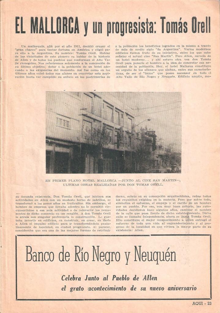 Revista AQUÍ Río Negro y Neuquén, junio 1968 (Gentileza Raúl Rodríguez Viera)