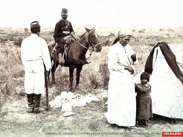C al d custodia a las soldaderas en un campamento1880